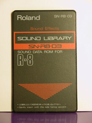 90' Roland Card Memory R8 R8m SOUND EFFETS SN-R8-03 PCM card techno-fun jingle