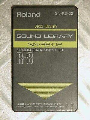 90' Roland Card Memory R8 R8m JAZZ BRUSH SN-R8-02 PCM card Acoustic BASS