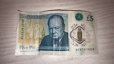 Ak47 £5 Note Five Pound Rare Polymer Collectable Notes Uk