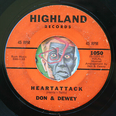HEAR Don & Dewey 45 Heart Attack/Dont Ever Leave Me HIGHLAND R&B soul doo wop