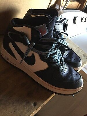 brand new 0db84 de215 Nike Air Force 1 Mid Basketball Shoes Navy Blue White  314195-412  Youth