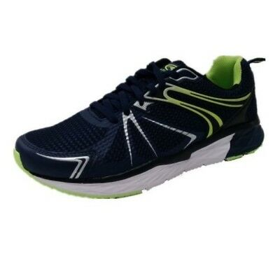 ATHLETIC WORKS Men's Tech Jogger Athletic Shoes - NAVY BLUE/ LIME GREEN - 9