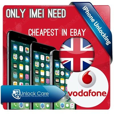 NETWORK UNLOCK IMEI FOR Vodafone UK iPhone 3 4 4S 5 5S 5C 6 6S plus 7 7+ Plus SE