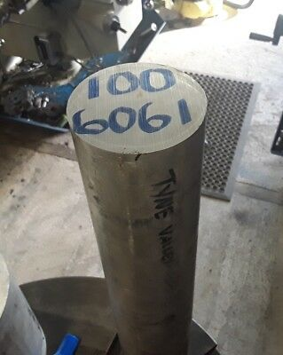 100mm diameter x 25mm long 6061 Aluminium alloy bar stock Round machining