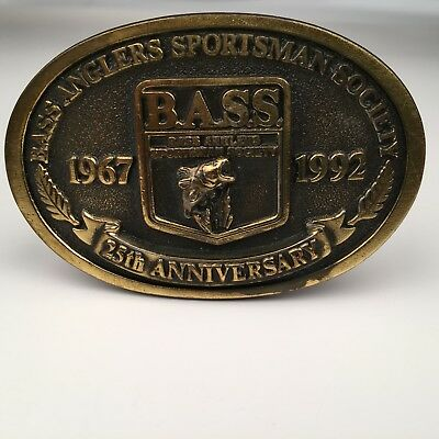 B.A.S.S. Bass Anglers Sportsman Society 25th Anniversary Belt Buckle