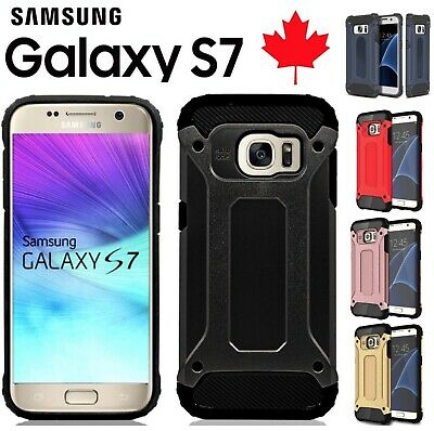 For Samsung Galaxy S7 Heavy Duty Dual Layer Shockproof Armour Tough Case Cover