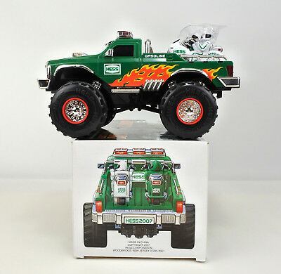 Hess 2007 Monster Truck With 2 Motorcycle, Light And Flasher