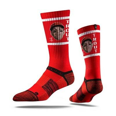 Mike Trout Los Angeles Angels Strideline MLB Face Crew Socks - Red