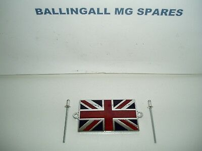 Mg Union Jack Badge With Rivets 59Mm X 39Mm - High Quality Enamel 215-608A