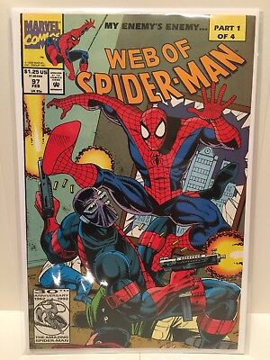 Web of Spider-Man #97 (Marvel Comics) 1st App Nightwatch VF/NM 9.0