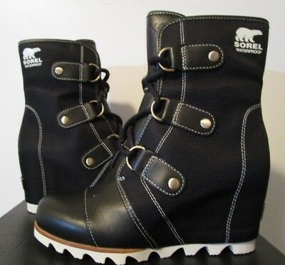 9173c6e72b22 NIB Womens Sorel Joan of Arctic Wedge Mid Wedge X Celebration Ankle Boots  Black