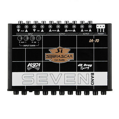 CAR AUDIO EQUALIZER 7 BAND 12CH PRE AMP EQ SUB CROSSOVER Parametric Equalizer