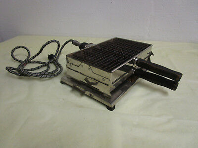 Antique & Working Sunbeam Toaster-Grill, with 2 Wooden-Handle Pans