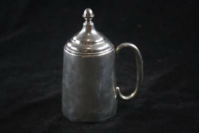 ANTIQUE VICTORIAN ENGLISH STERLING SILVER LIDDED GOBLET CUP Marked 71g