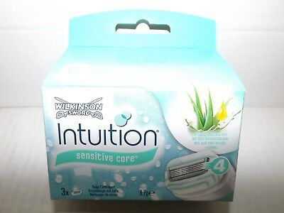 "Wilkinson ""Intuition Naturals"" Rasierklingen 3er ""Sensitive Care"" EAN (7103)"