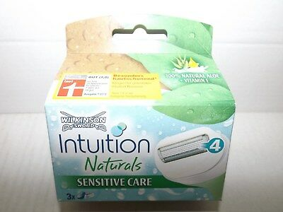 "Wilkinson ""Intuition Naturals"" Rasierklingen 3er ""Sensitive Care"" EAN (4554)"