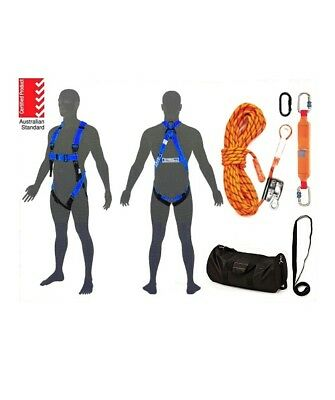 Roofers Kit Safety Harness with 15m to 50m Rope Kits