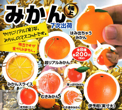 Mandarin Squeeze and Solid Food Sample Charm Gacha Toy