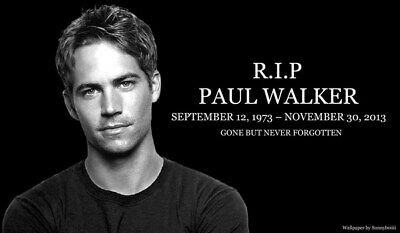 """080 Paul Walker - RIP Fast and Furious Super Movie Star 24""""x14"""" Poster"""