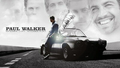 """068 Paul Walker - RIP Fast and Furious Super Movie Star 24""""x14"""" Poster"""