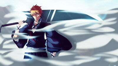 "049 Bleach - Dead Rukia Ichigo Fight Japan Anime 42""x24"" Poster"