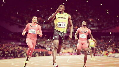"036 Usain Bolt - 100 m Running Jamaica Game Champion Olympic 42""x24"" Poster"