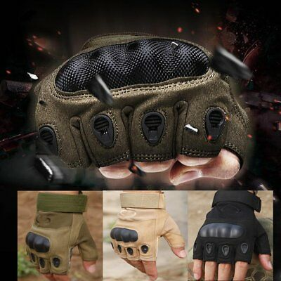 Tactical Hard Knuckle Gloves Mens Military Army Security Combat CS Police Patrol