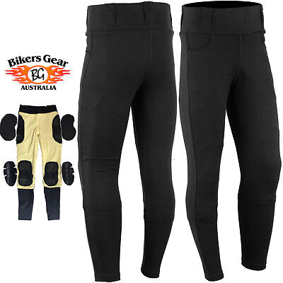 AUSTRALIAN BIKERS GEAR Motorcycle Leggin lined with DuPont™ Kevlar® CE armour