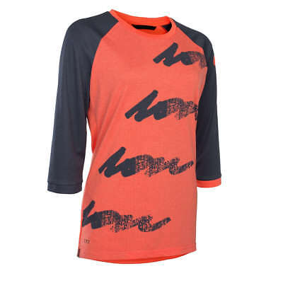 ION Girls Freeride-Jersey 3/4-Arm Scrub Amp Hot Coral