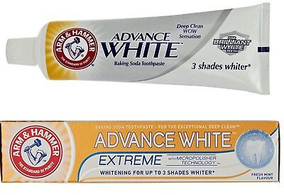 Arm and Hammer Advanced Extreme Whitening Toothpaste 75ml UP TO 3 SHADES WHITER