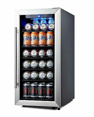 Phiestina 106 Can Stainless Steel Beverage Cooler/ Refrigerator WAS $329.99