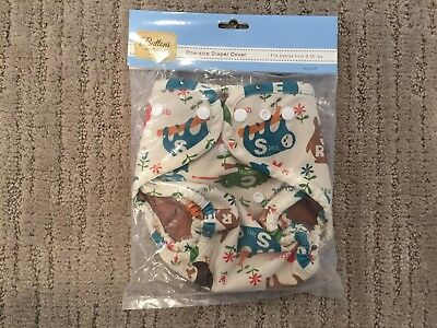 Buttons One Size Cloth Diaper Cover (Color: Critter)