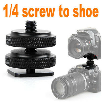 "Pro Type 1/4""-20 Tripod screw Flash Hot Shoe Adapter For Canon Nikon Pentax Fuji"