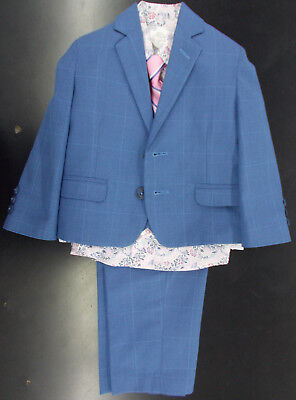 Boys Young Kings By Steve Harvey $100 5pc Blue Suit Size 10 - 14