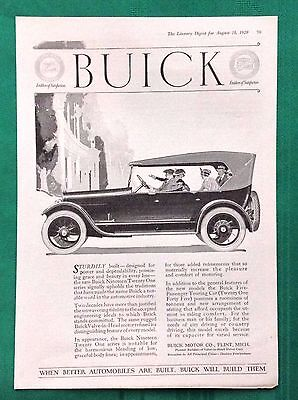 1920-1923 Lot Vintage Automobile Magazine Ads ~ Buick ~ Flint MI