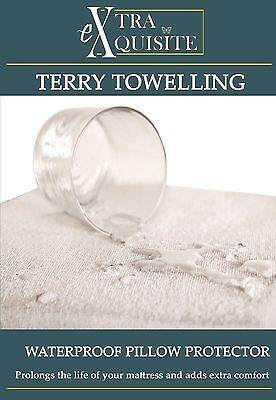TERRY TOWEL WATERPROOF SINGLE MATTRESS COVER / PROTECTOR Fitted Bed Cover SHEET