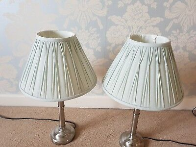 2 x laura ashley lamp shades in duck egg blue 500 picclick uk 2 x laura ashley lamp shades in duck egg blue mozeypictures Choice Image