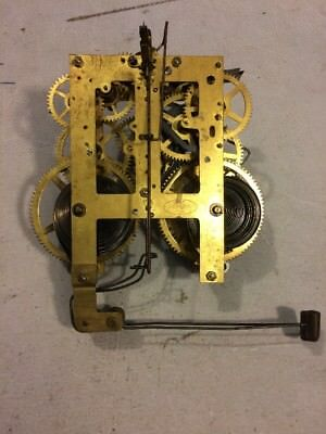 Antique Sessions Tambour Mantle Clock Movement Dual Chime