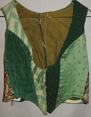 Vintage -Renaissance- Quilted Ladies/Womens Under Bust Theater Costume/Fair Vest