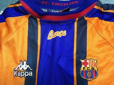 8ca579f03 BARCELONA FC XL L 1997-98 away kit kappa vintage - £25.00