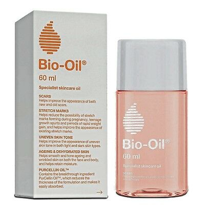 Bio-Oil For Scars Stretch Marks Uneven Skin Tone Aging  Dehydrated Skin 60ml/2Oz