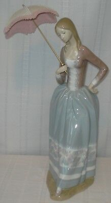 "Lladro Figurine ""girl With Umbrella"" (Spain)"