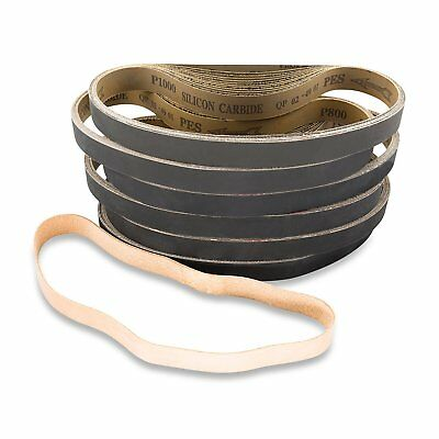 1 X 30 Inch Silicon Carbide Sanding Belts (180G - 800G) -72 Pack Asst with strop