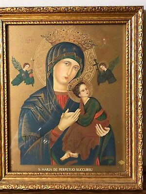 "Vintage Gold Leaf Frame ""Madonna and Child""  Absolutely Beautiful!!"
