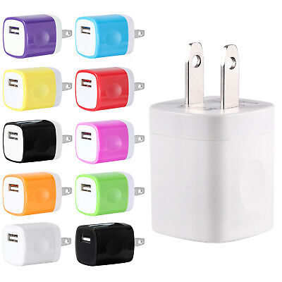 USB Wall Charger AC Home Power Adapter US Plug For iPhone 6 7 8 X Samsung LG HTC
