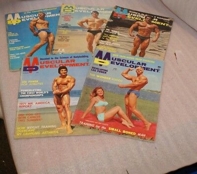 Lot of 13 Muscular Development Muscle Magazines 1960's-70's