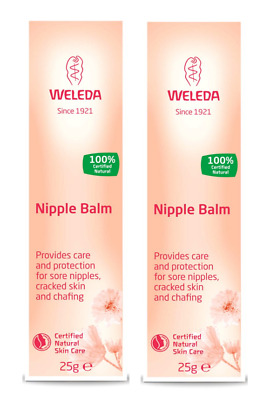 2x Wedela Nipple Balm for Sore, Cracked Nipples Breastfeeding 100% Natural 25g