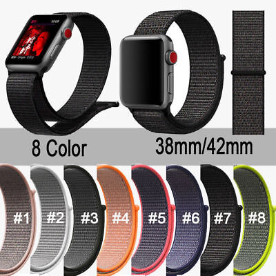 Sport Woven Nylon Loop Band Strap Belt Bracelet For Apple Watch Series 4 3 2 1