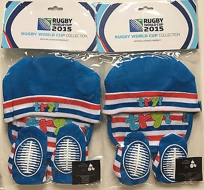 2xBaby Rugby World Cup Boys Try!Accessory Set Blue.0-6months and 6-12months.