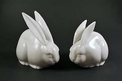 White Rabbits- Bunnies, Pair,  by Toyo